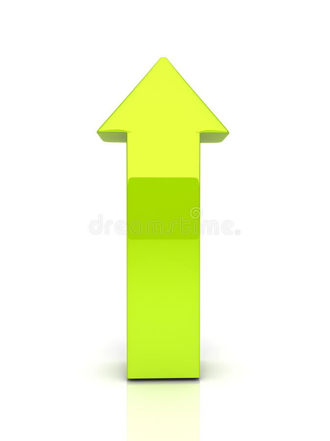 Flèche verte illustration stock