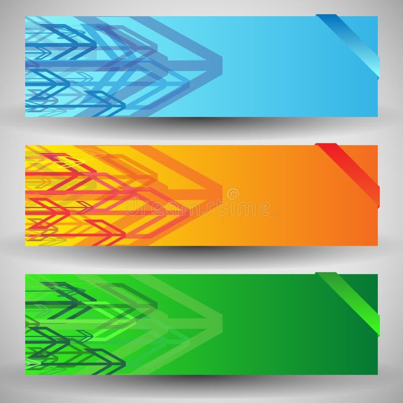 Flèches élégantes modernes illustration stock
