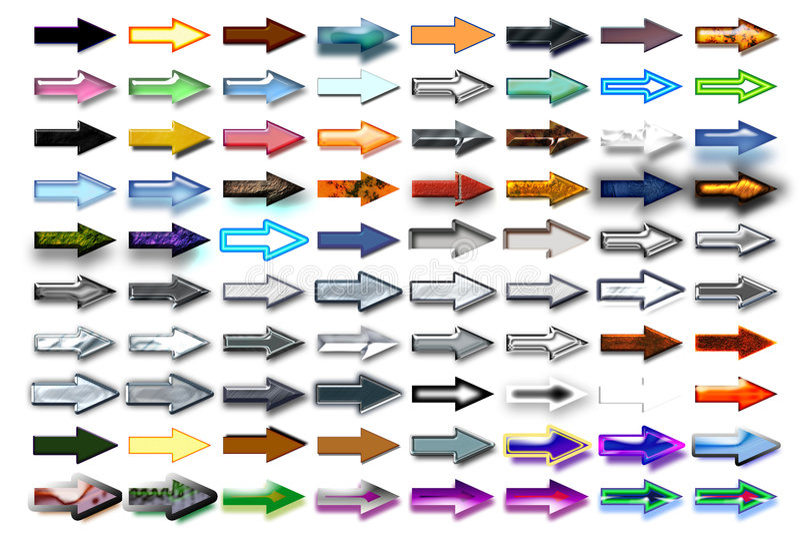Flèches 07 d'illustration illustration libre de droits