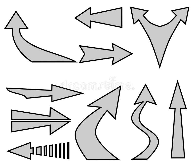 Flèches illustration libre de droits