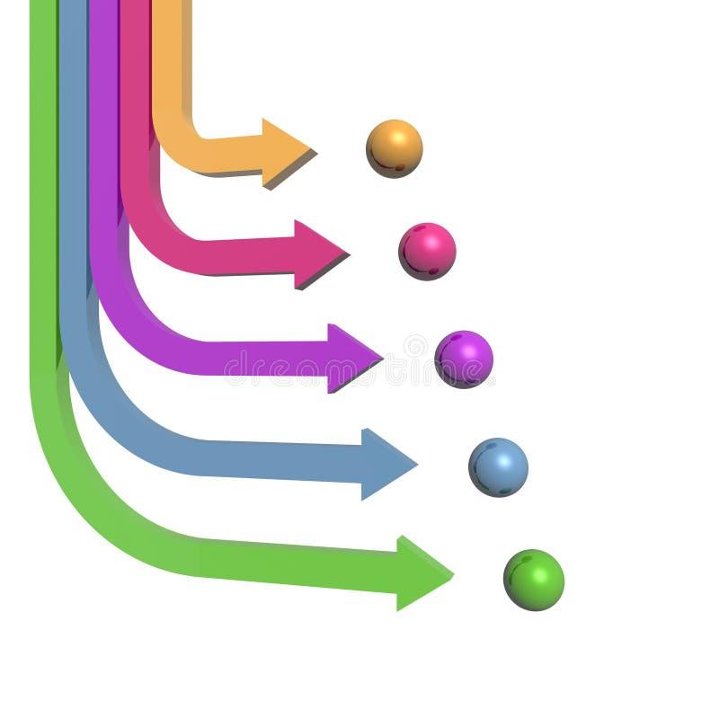 flèches 3D illustration de vecteur