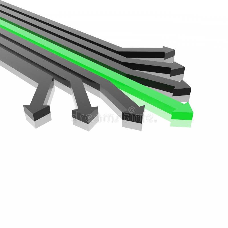 flèches 3D illustration stock