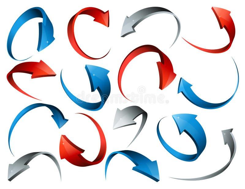 flèches 3d illustration libre de droits