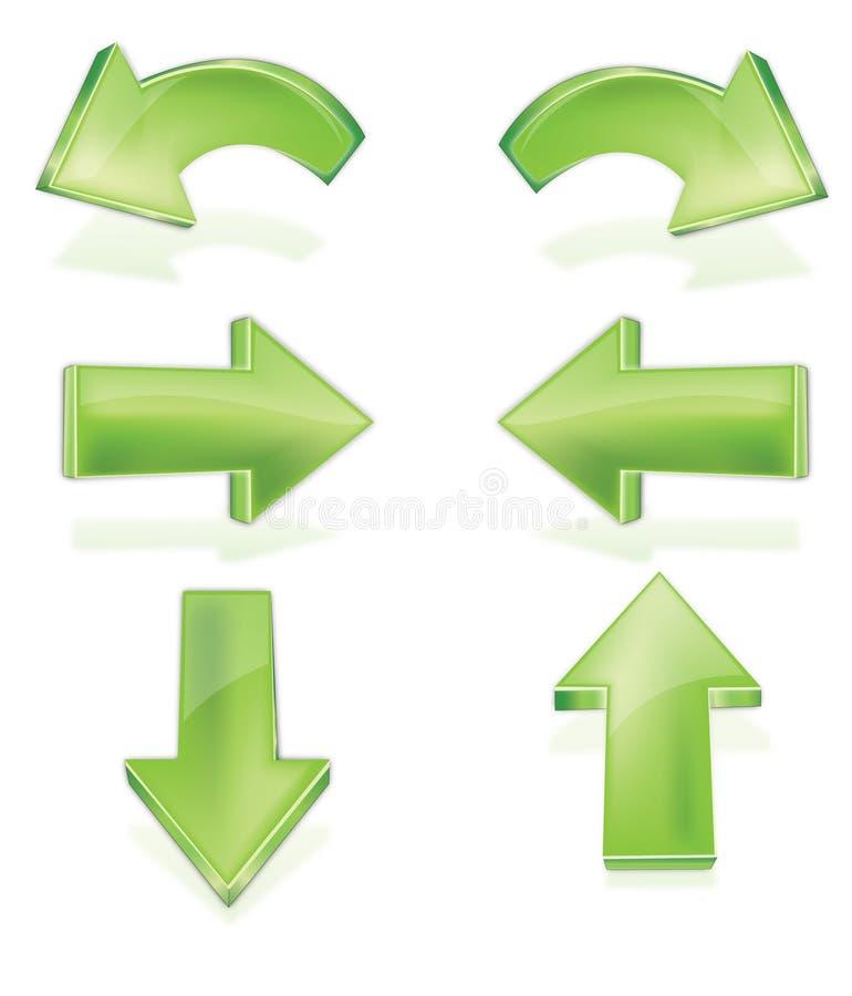 Flèches illustration de vecteur