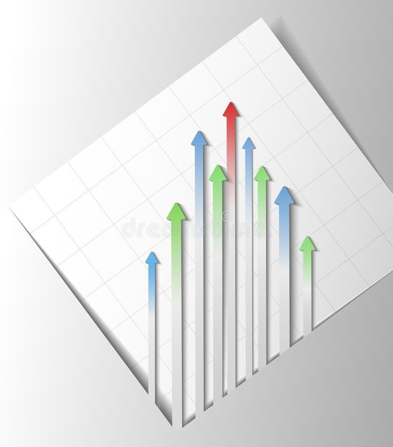 Flèches abstraites illustration de vecteur
