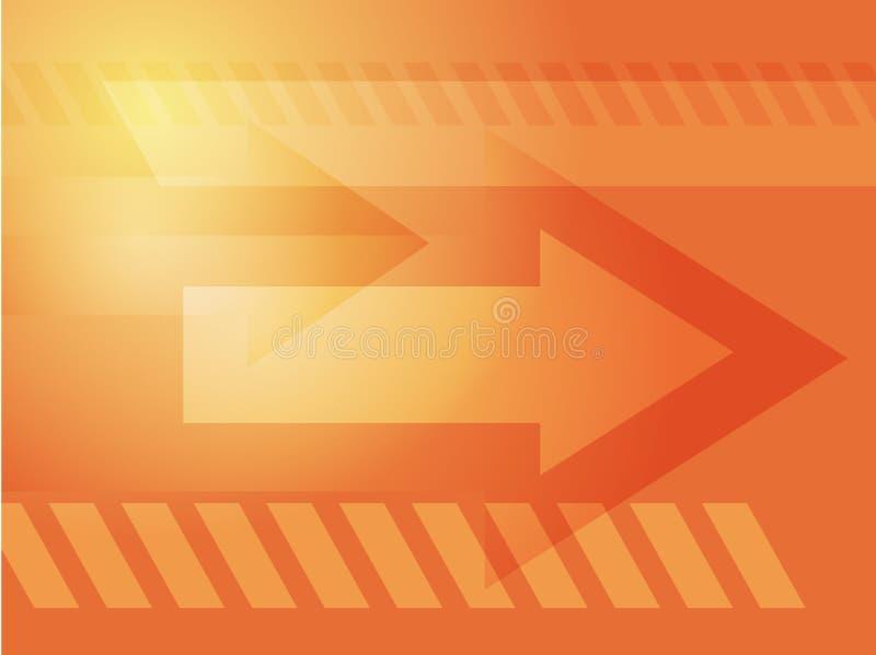 Flèches avant illustration de vecteur