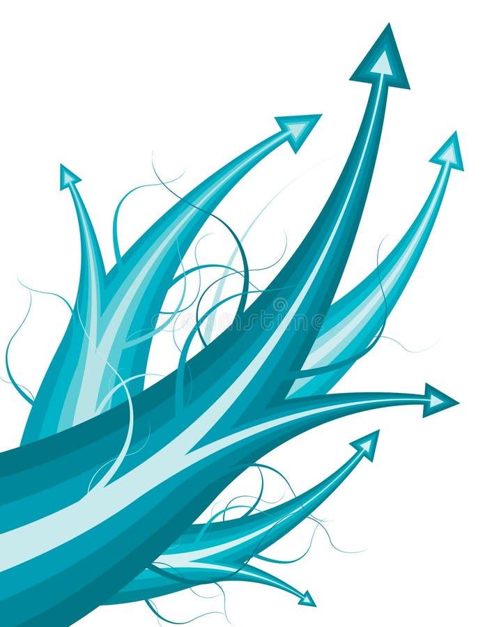 Flèches bleues illustration libre de droits