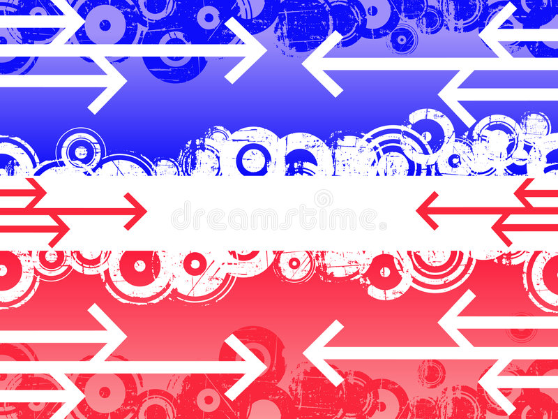 Flèches bleues et rouges illustration libre de droits