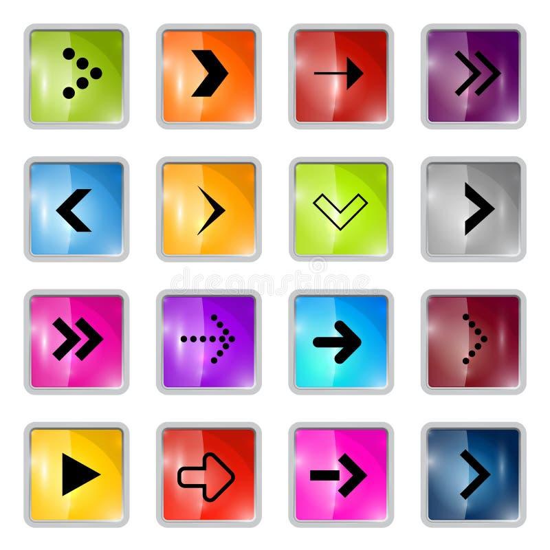 Flèches carrées de vecteur illustration de vecteur