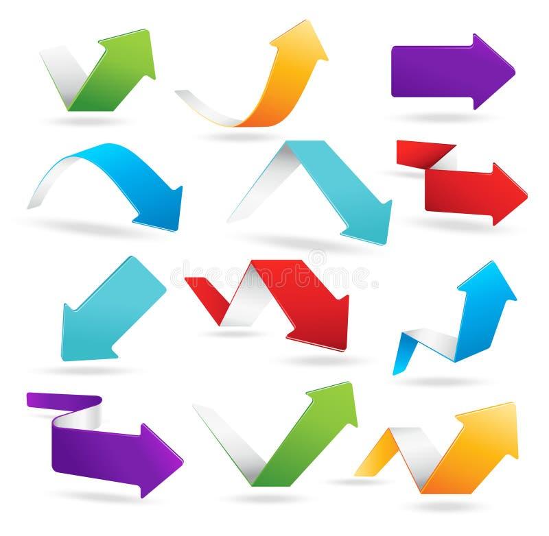 Flèches colorées illustration stock