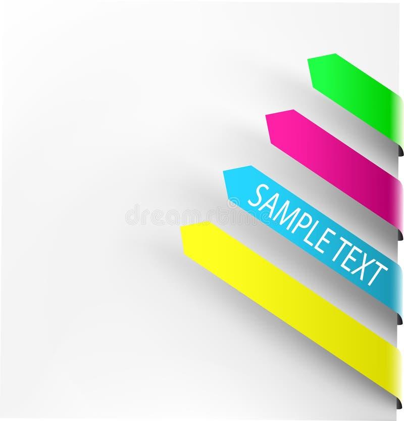 Flèches colorées de navigation illustration de vecteur