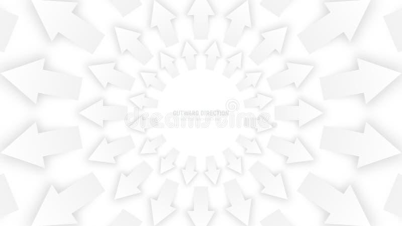 Flèches 3D blanches de vecteur illustration libre de droits