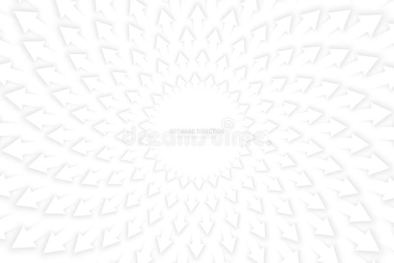 Flèches 3D blanches de vecteur illustration de vecteur