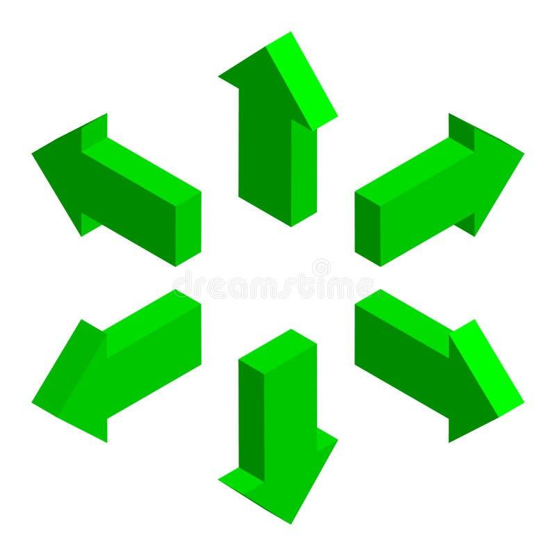 Flèches 3d isométrique illustration libre de droits