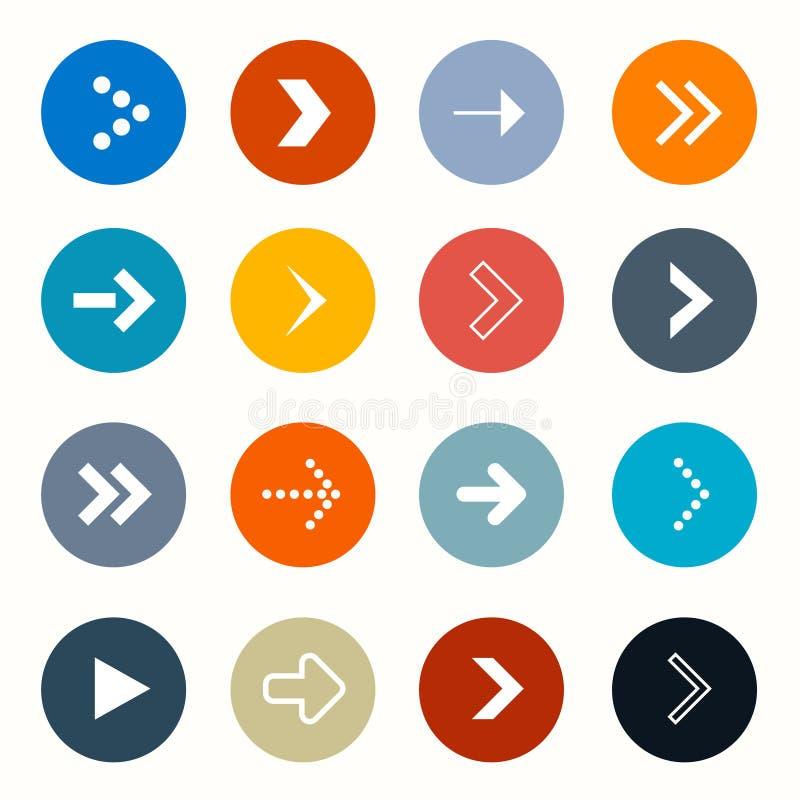 Flèches de cercle de vecteur réglées illustration libre de droits