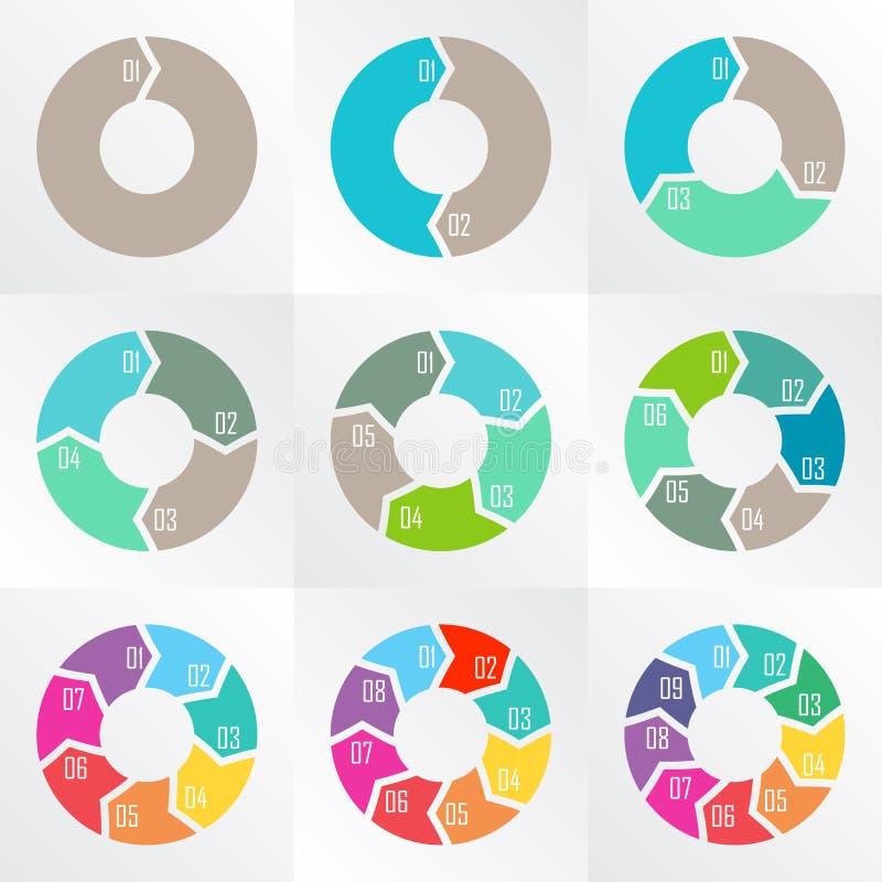 Flèches de cercle pour infographic photo libre de droits