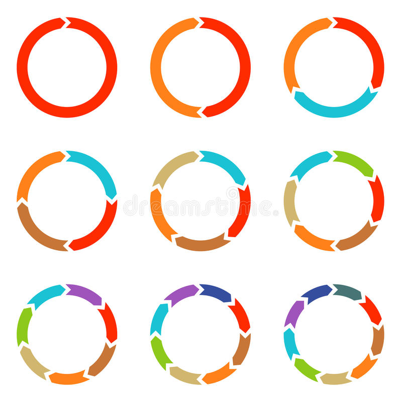 Flèches de cercle pour infographic photographie stock libre de droits