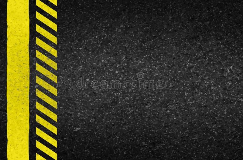 Flèches de danger sur la texture d'asphalte Illustration illustration de vecteur