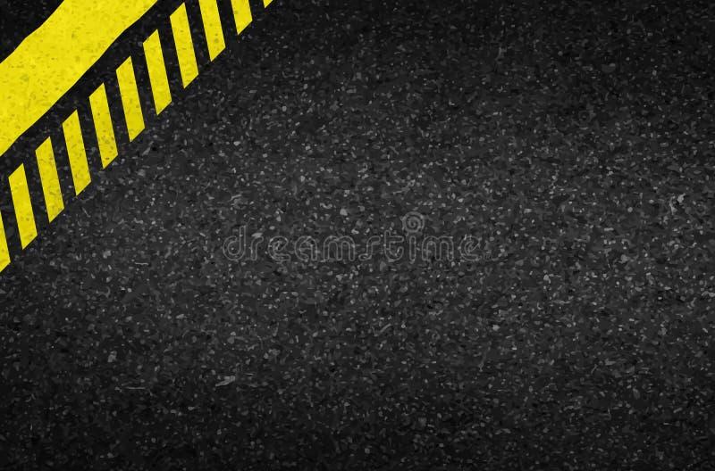 Flèches de danger sur la texture d'asphalte Illustration illustration stock