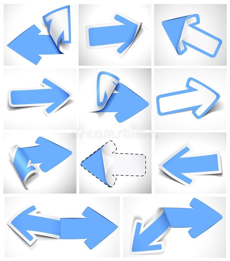 Flèches de papier illustration de vecteur