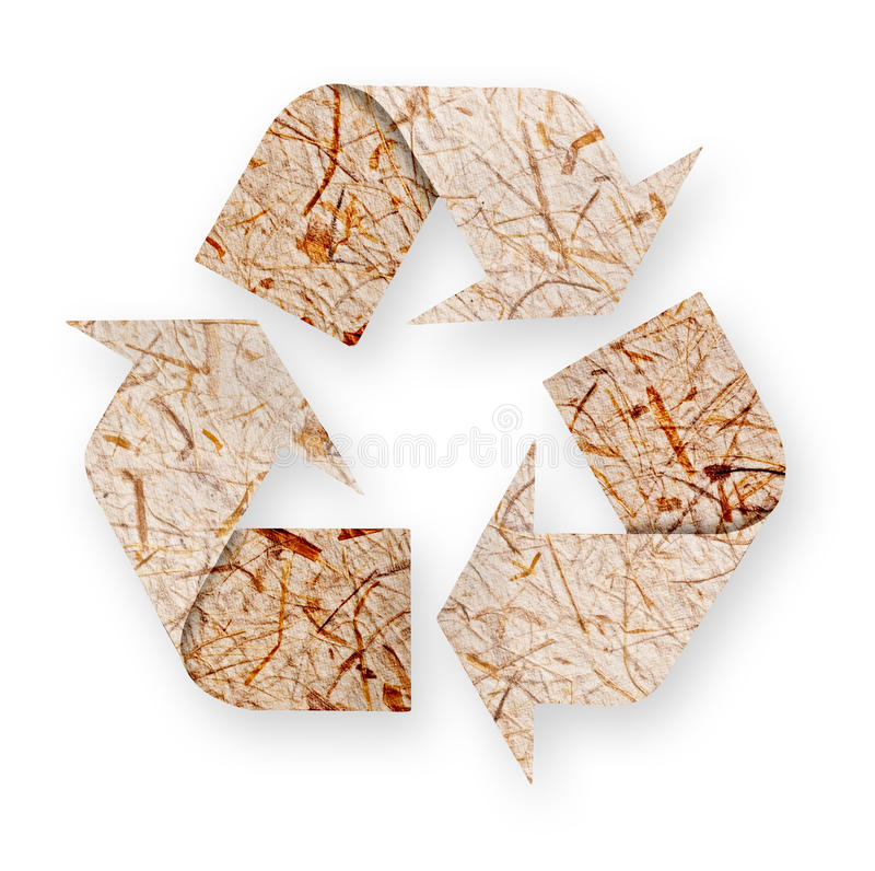 Flèches de papier réutilisées. images libres de droits