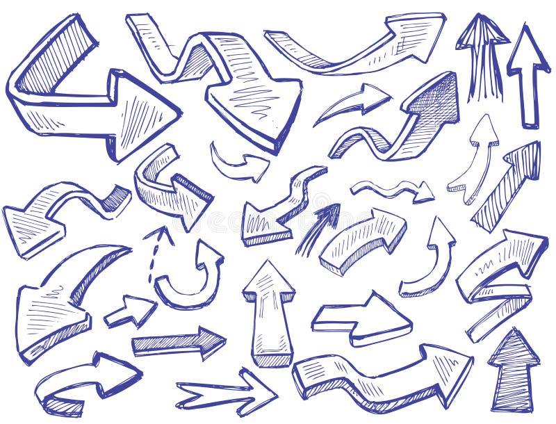 Flèches de vecteur illustration de vecteur