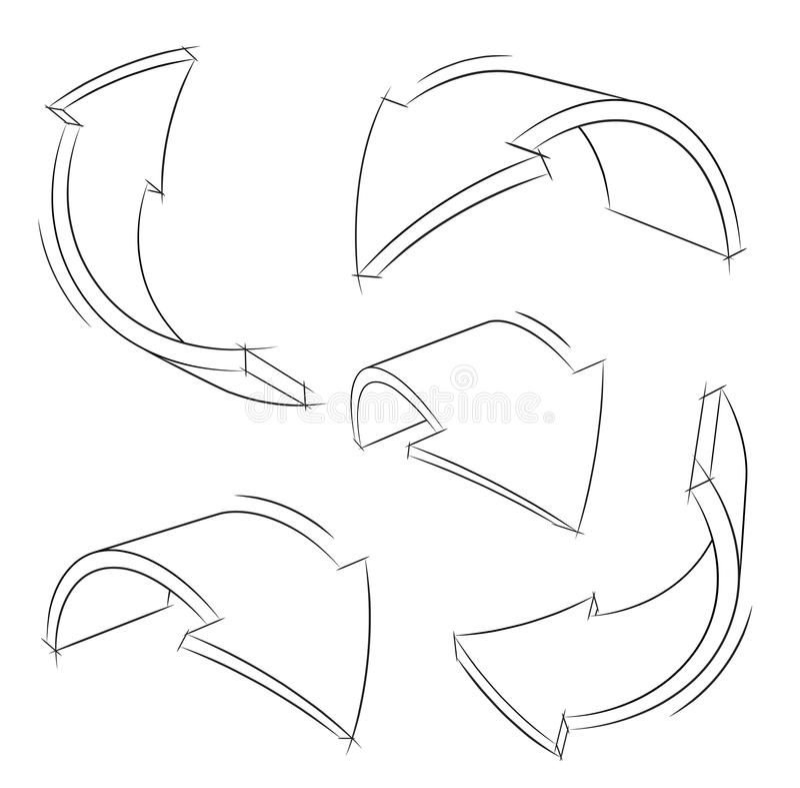 Flèches directionnelles illustration de vecteur