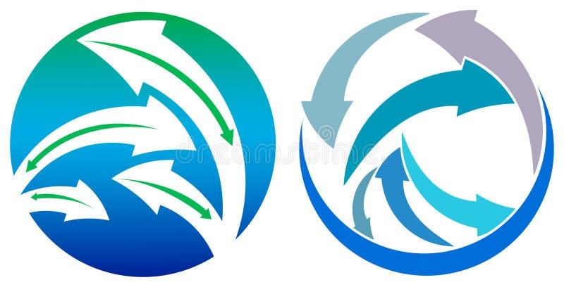 Flèches en cercle illustration de vecteur