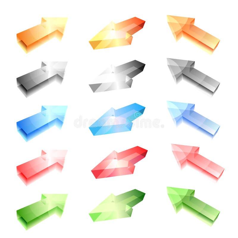 Flèches en verre illustration libre de droits