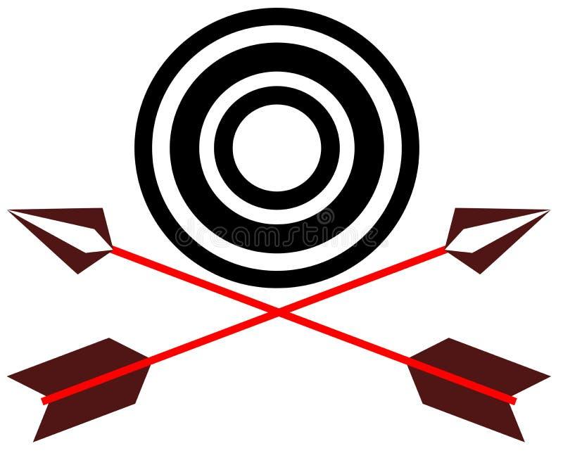 Flèches et cible illustration de vecteur