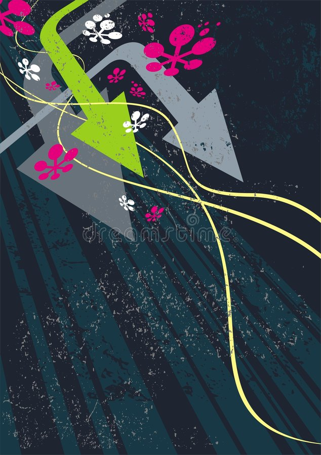 Flèches et ondes illustration stock