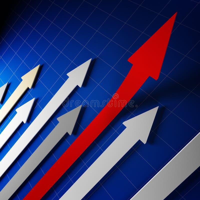 Flèches financières de stat illustration stock