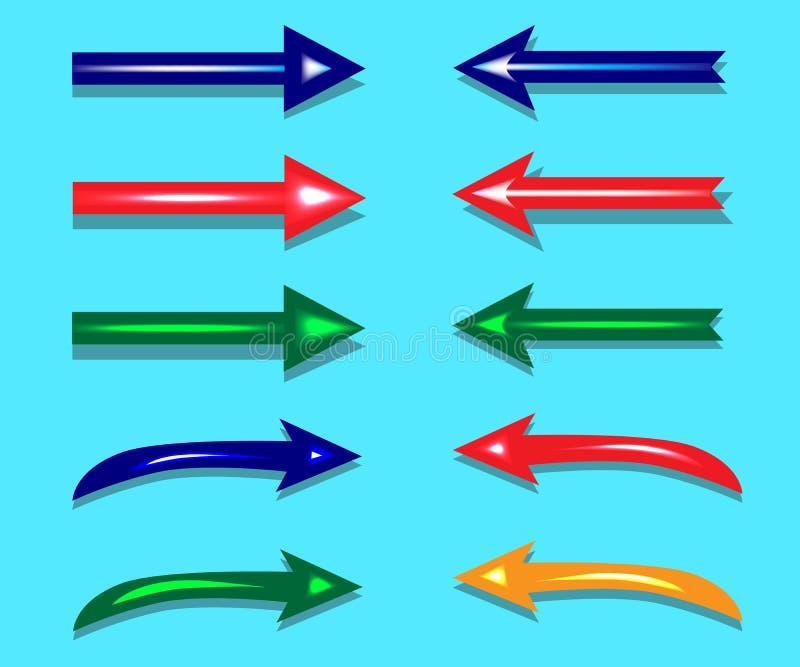 Flèches, indicateurs, navigation pour votre conception illustration stock