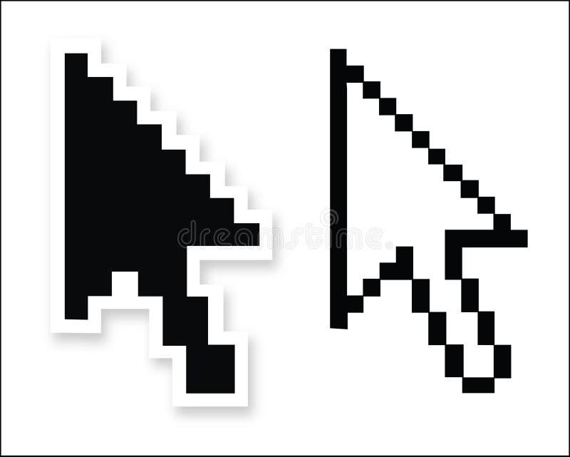 Flèches indicatrices de flèche de souris de vecteur