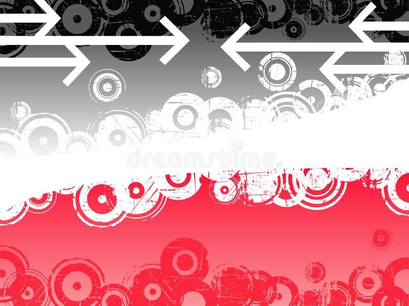 Flèches noires et roses illustration de vecteur