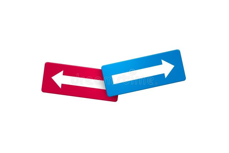 Flèches opposées de direction illustration libre de droits