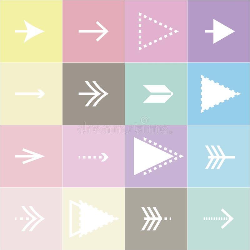 Flèches plates illustration stock