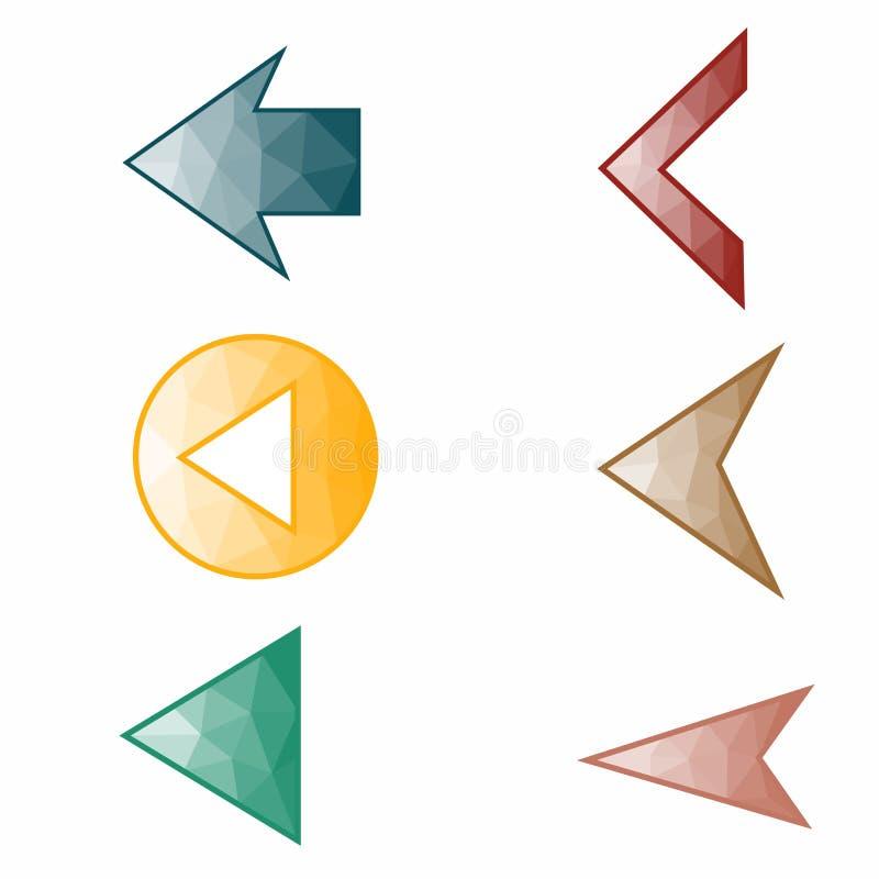 Flèches sur le fond blanc et la flèche en cercle photo libre de droits