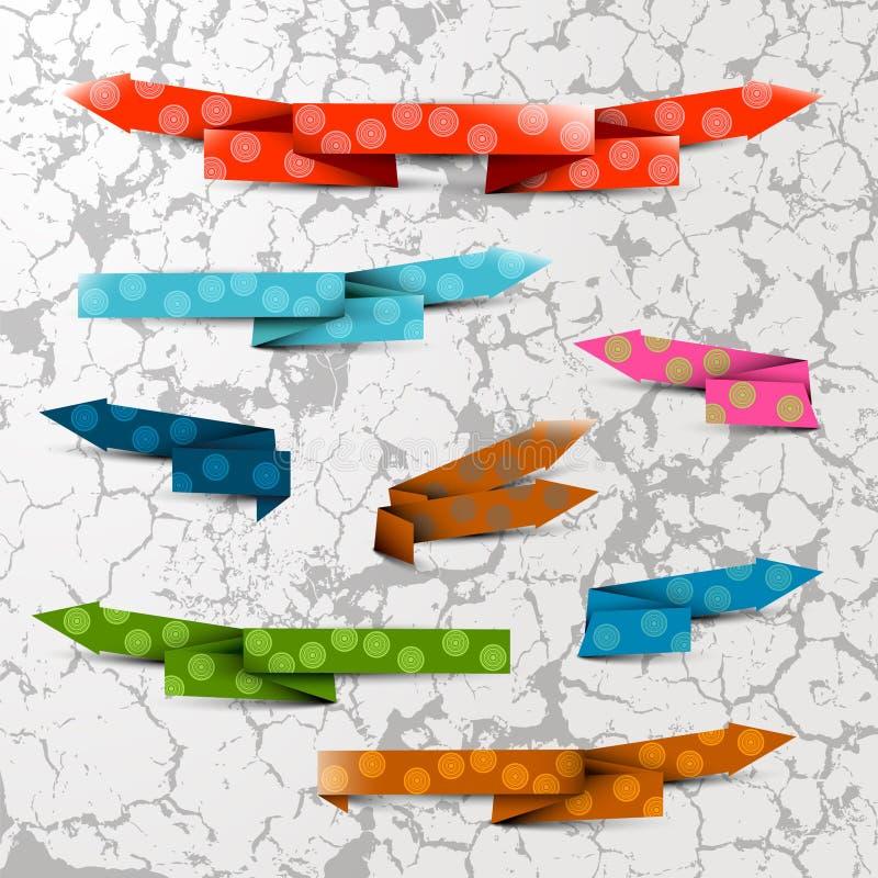 Flèches texturisées de couleur illustration de vecteur