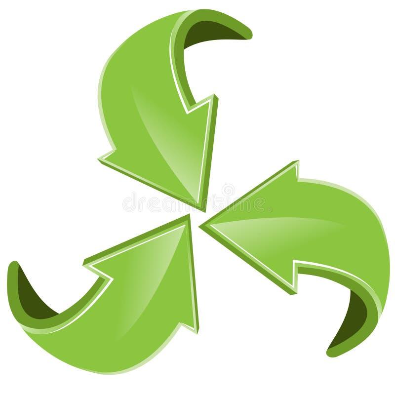 Flèches vertes illustration libre de droits