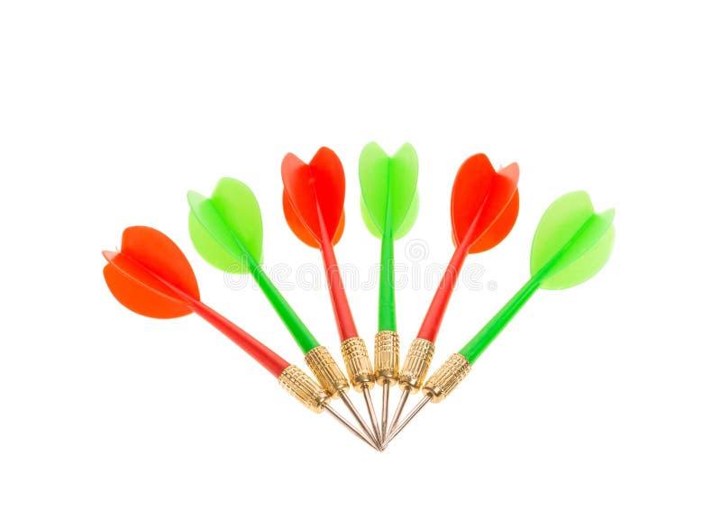 Flèches vertes et rouges de dard image libre de droits
