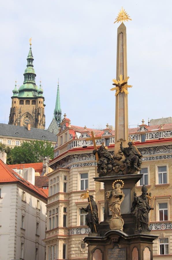 Fléau baroque de trinité sainte à Prague image libre de droits