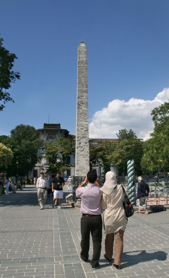 Fléau de Constantine dans l'hippodrome. Istanbul photo libre de droits