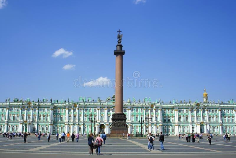 Fléau de grand dos, d'Alexandre de palais et palais de l'hiver images stock