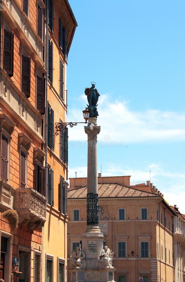 Fléau de la conception immaculée, Rome images stock