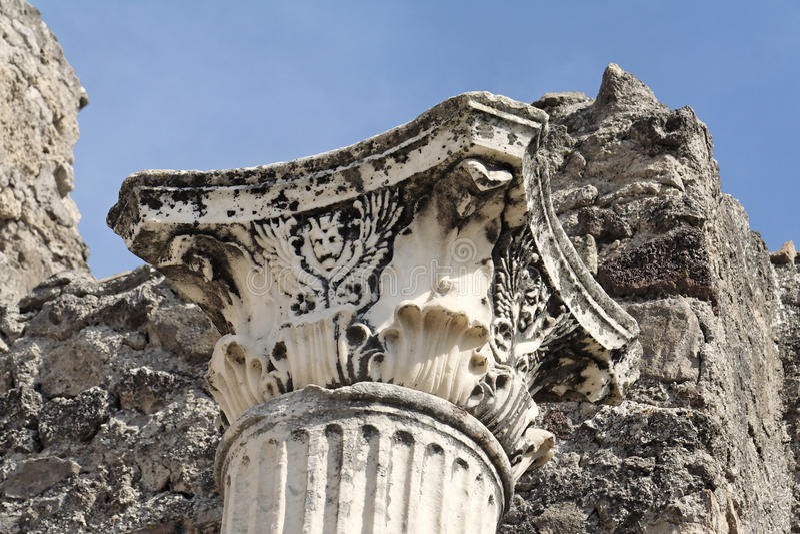 Fléau de marbre à Pompeii images stock