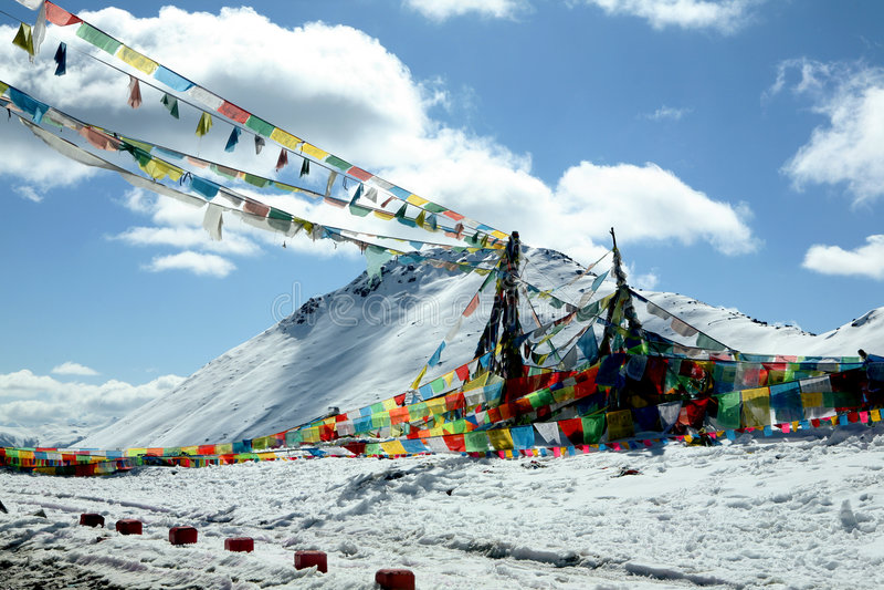 Fléau de montagne de neige photo libre de droits