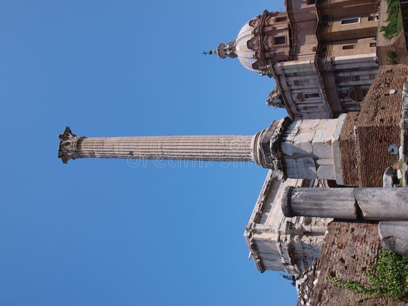 Fléau de Phocas, forum Romanum, Rome, Italie photos stock