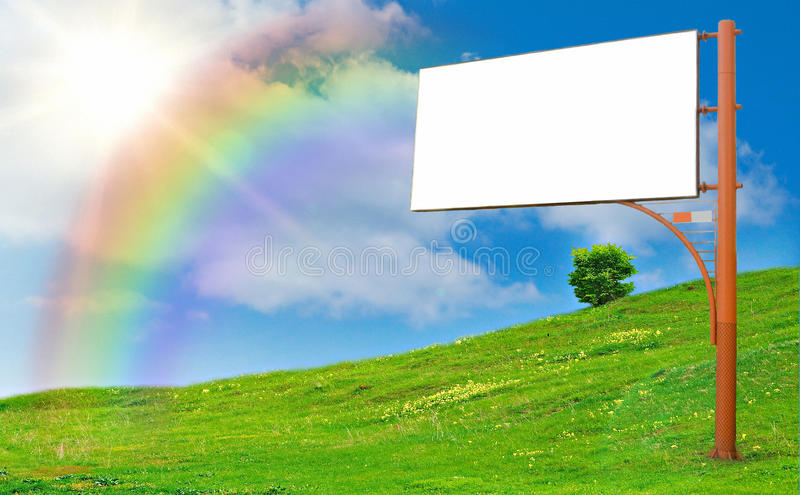 Fléau de publicité photo libre de droits