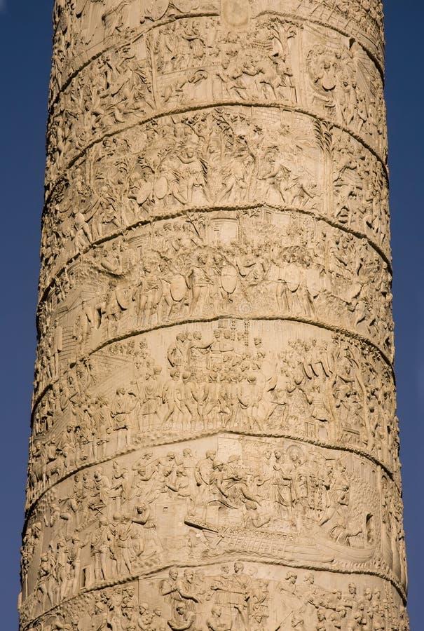 Fléau de Trajan situé dans le forum de Trajan à Rome photographie stock libre de droits